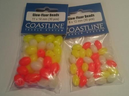 Glow Fluor Beads (30 stk assortert)