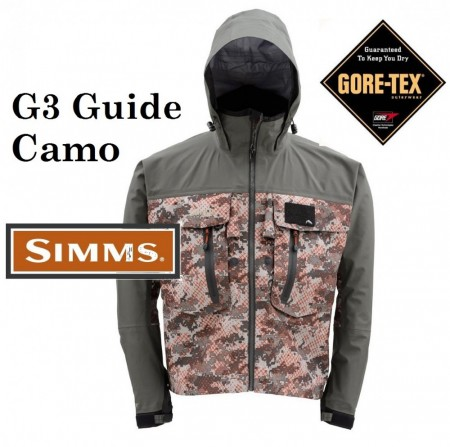 Simms G3 Guide Camo Wading Jacket
