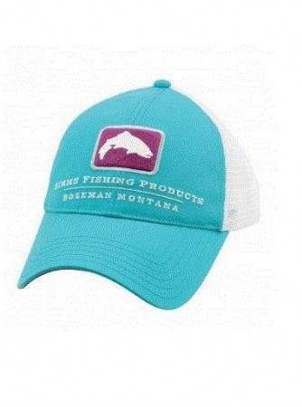 Simms Small Fit Trout Trucker Cap - Cabana Blue