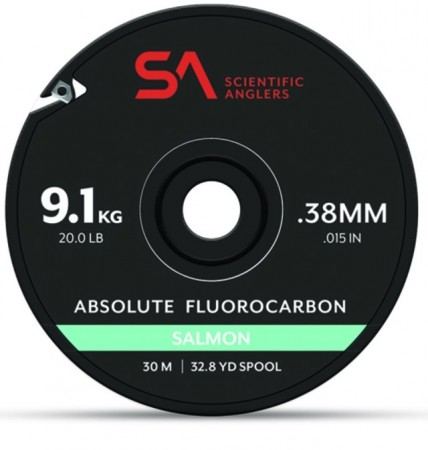 SA Absolute Salmon Fluorocarbon Tippet (30 m)