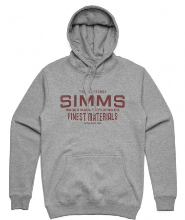 Simms Wader Mfg Hoody Gunmetal Heather