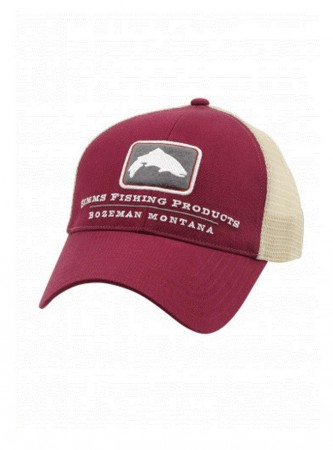 Simms Small Fit Trout Trucker Cap - Malbec