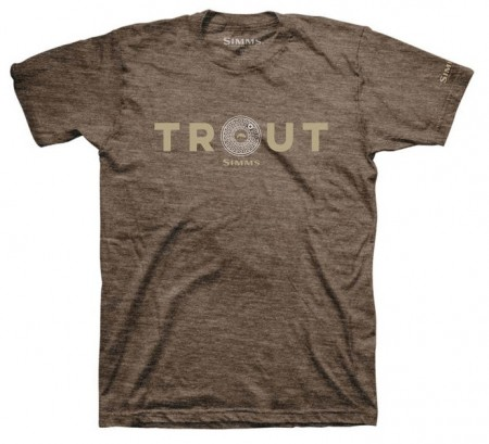 Simms t-shirt Reel Trout Brown Heather