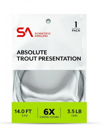 SA Absolute Trout Presentation Leader 14´