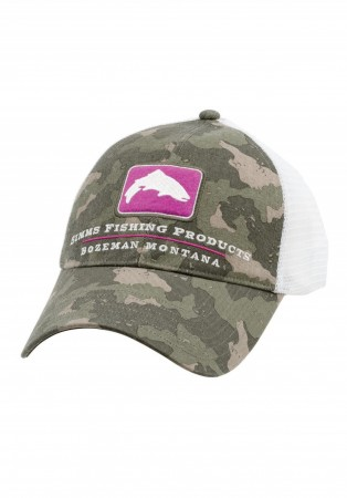 Simms Small Fit Bass Trucker Cap - Simms Camo