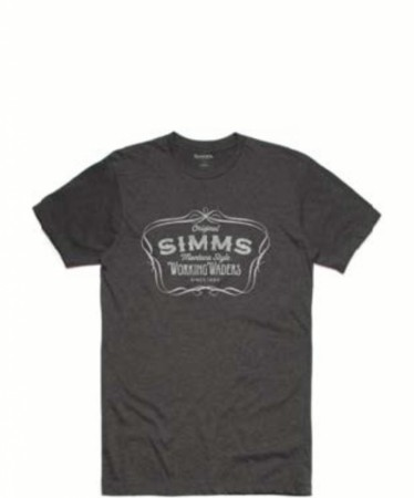 Simms Montana Style T-Shirt Charcoal