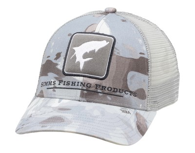 Simms Tarpon Icon Trucker Cloud Camo Grey