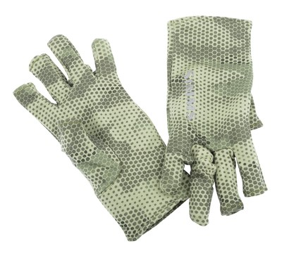 Simms Ultra-Wool Core 3-Finger Liner Hex Camo