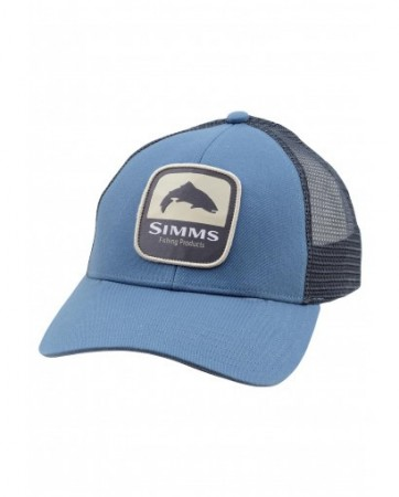Simms Trout Patch Trucker Blue Stream