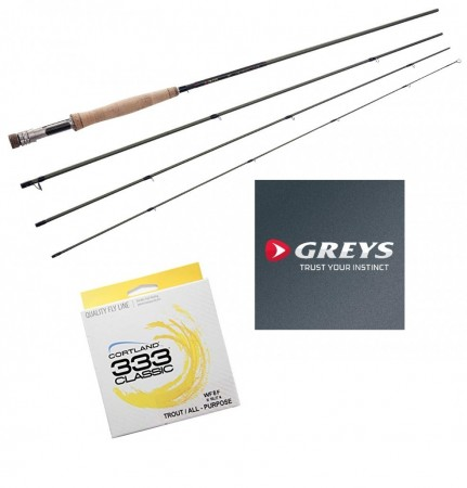 Greys GR70 Streamflex Plus 9,6´ #4 (4-delt)